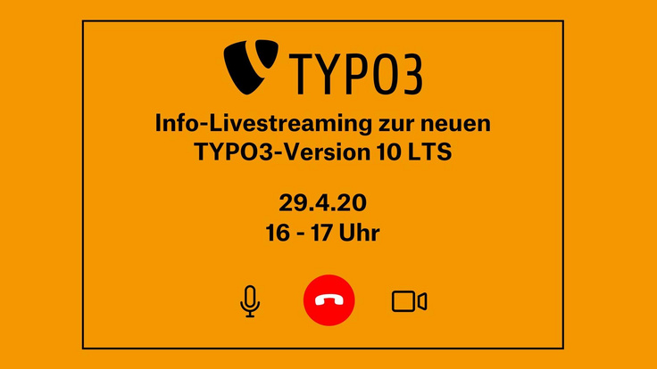 Info-Livestreaming zur neuen TYPO3-Version